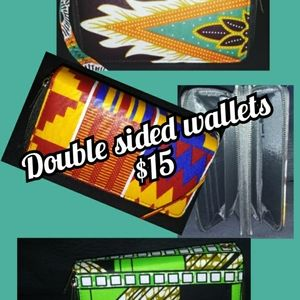 Printed double sided wallets